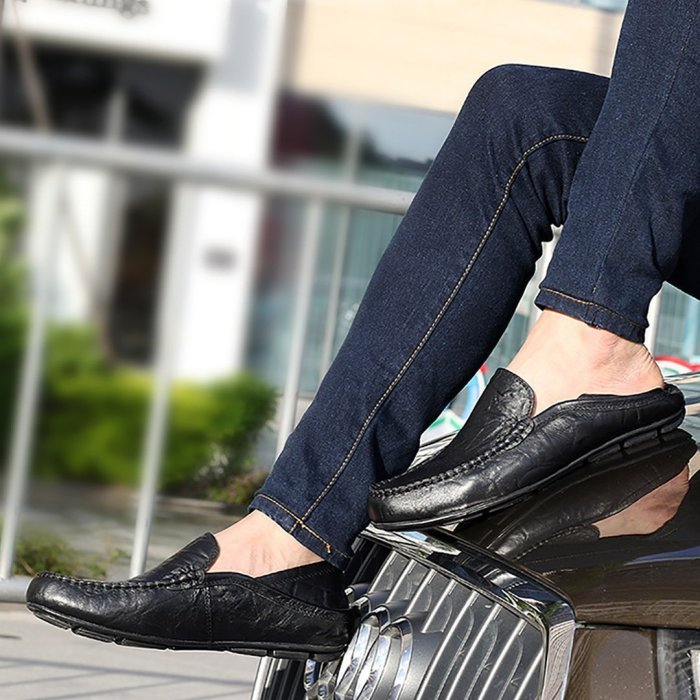 Men's dual-use casual leather shoes