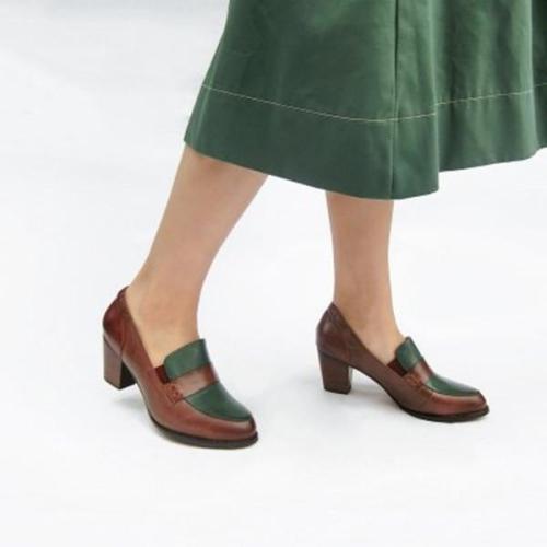 Women Elegant Round Toe Heels