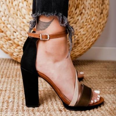Women Summer PU Chunky Heels