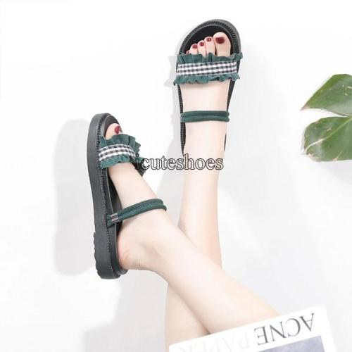 Roman Shoes Female Student Fashion 2020 New Summer Roman Flat