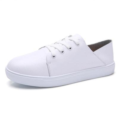 Women's Shoes Round Toe Casual Lace-Up Sneakers