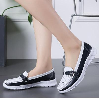 Plus Size Casual Athletic Shoes Hollow-out Color Block Slip On Loafers