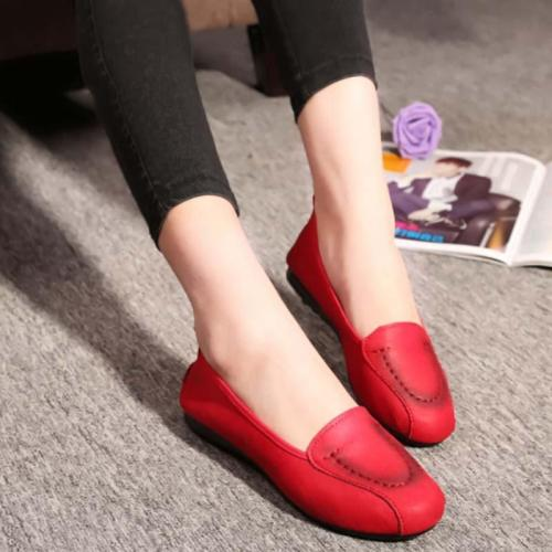 Women Autumn New Shoes Sewing Thread Design Casual Flat & Loafers