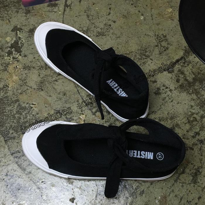 New Black Canvas Shoes Women Fashion Shoes