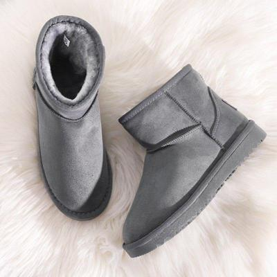 Womens Artificial Suede Daily Ankle Snow Boots