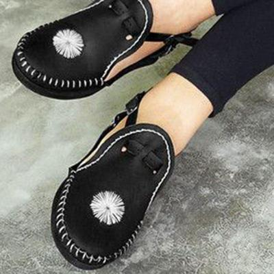 Breathable Buckle Strap Flats