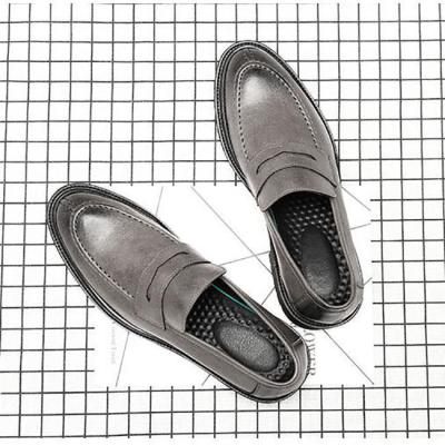 British retro platform with a pedal round head casual shoes