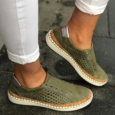 Women Casual Shoes Slip On Hollow-Out Sneakers