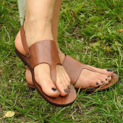 Women Flat Heel Flip Flops Cusual Artificial Leather Sandals