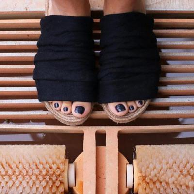 Women's Cloth Peep Toe Flat Slippers