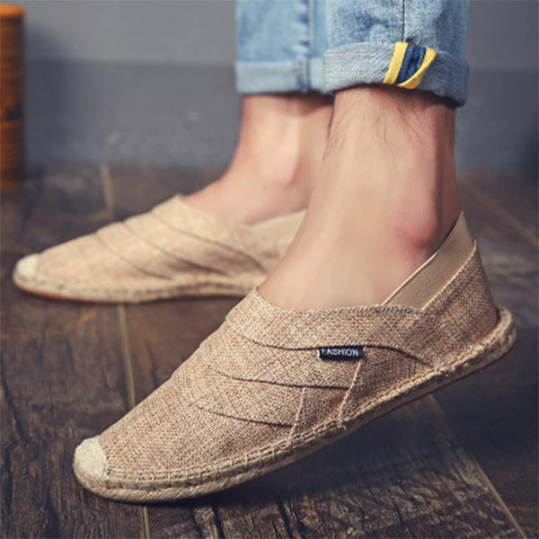 Mens Slip On Soft Espadrilles Casual Canvas Loafers