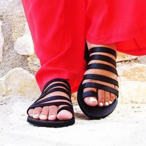 Women's Microfiber Round Toe Beach Slip-On Flat Slippers
