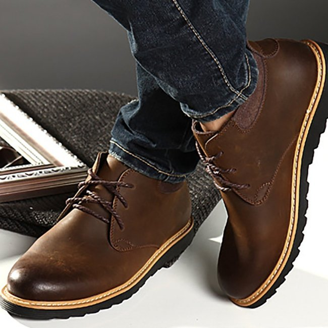 Men's British vintage Martin leather Men Boots