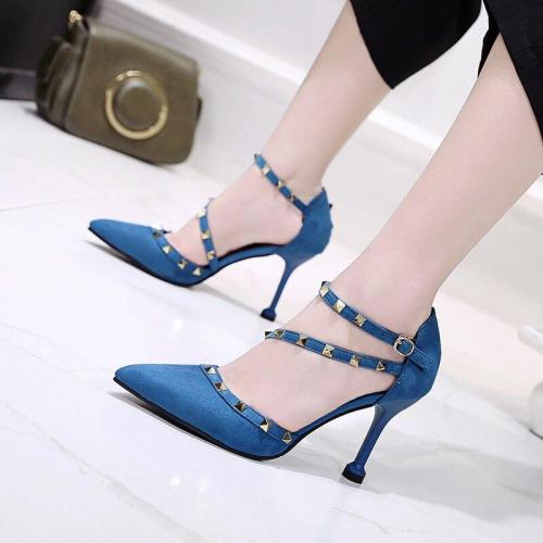 Black High Heel Shoes Lady Casual Pointed Toe Black Party High Heels