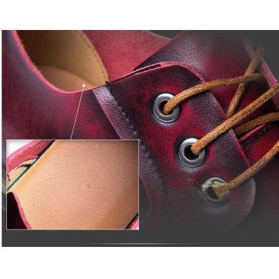 Casual vintage men's shoes leather Martin shoes