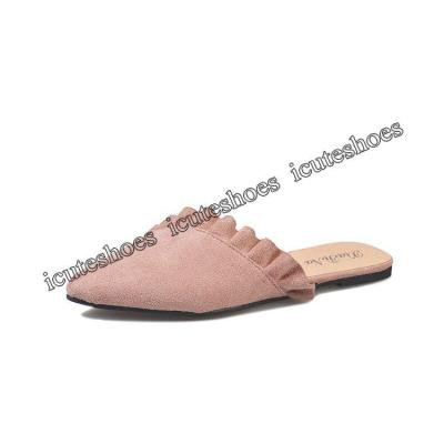Slipper women's summer new lace pointed head flat bottom