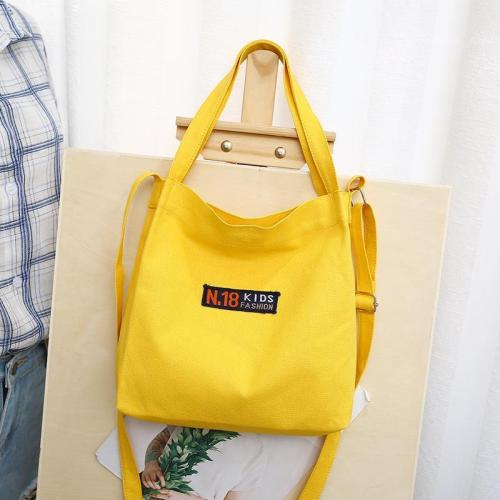 Simple Design Multifunction Canvas Tote Bag