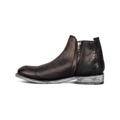 Men's Casual Leather Zip Boots