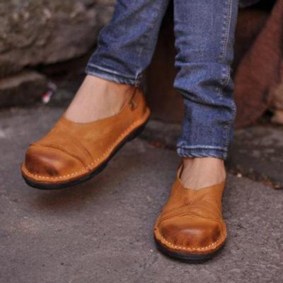 Women Soft Pu Flat Heel Loafers