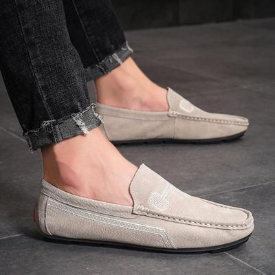 Solid Casual British Men's Driving Shoes
