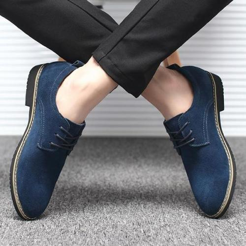 Mens Large Size British Style Casual Flat Shoes