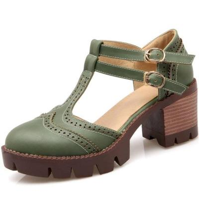 Rome Chunky Heels  Women Shoes Outdoor Gladiator Sandals