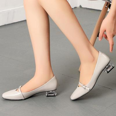 Sweet Mary Jane Summer Chunky Heel Square Toe Shoes