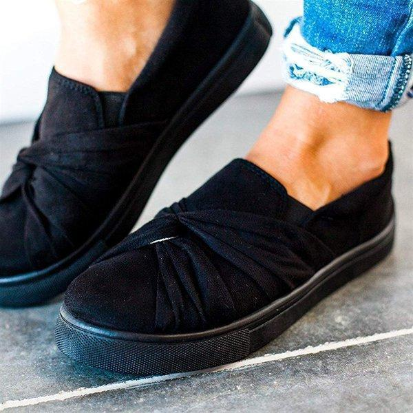 Women Spring Summer Flats Round Toe Comfortable Pedal Flats Daily Loafers Slip-on