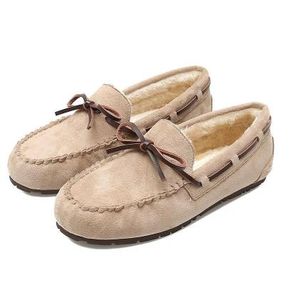 Botknot Solid Slip-on Flat with Faux Fur