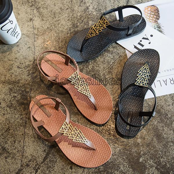 Flat Shoes Woman Bohemian Sandals Ladies Vacation Beach Sandales