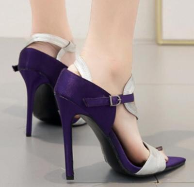 Thin High Heels Sandals PU Leather Wedding Shoes