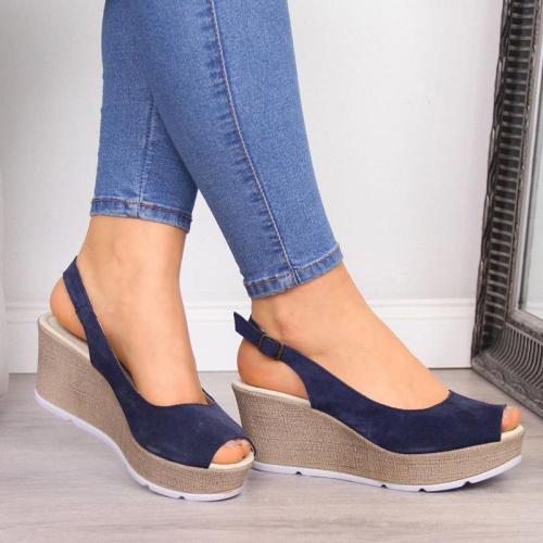 Women'S Wedge Heel Casual Open Toe Summer Sandals