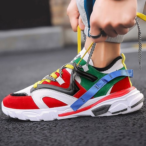 Men's Sports Breathable Color Casual Shoes