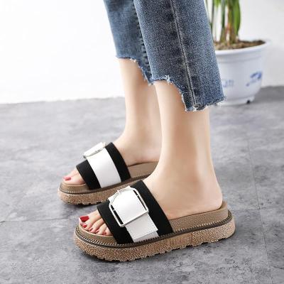 Summer 2020 New Fashion Buckle Chunky Bottom Women's Shoes