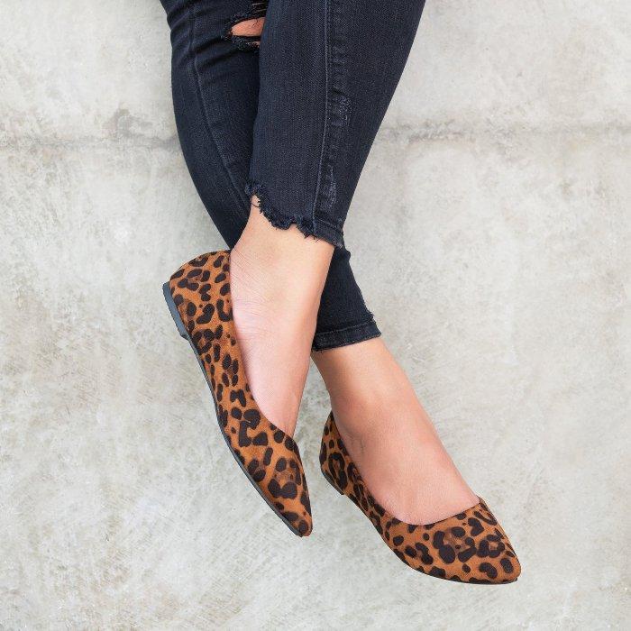 Angie Leopard Ballet Flats