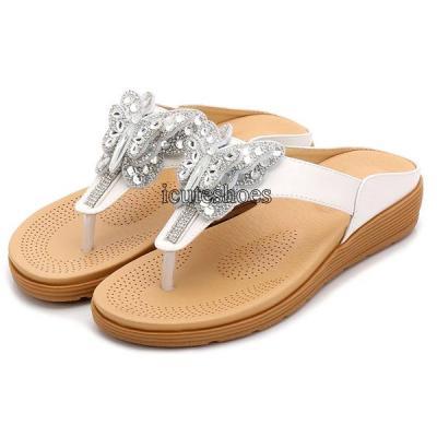 Ladies sandals women's new summer drill sandals Bohemia sandals women's thick bottom beach shoes