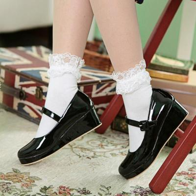 Grily Style Polished Artificial Leather Upper Mary Jane Shoes
