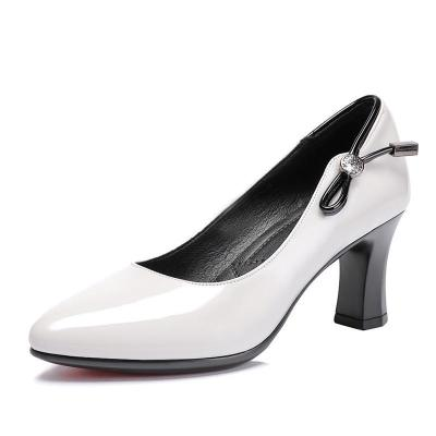 Summer Chunky Heel Working Pointed Toe Shoes