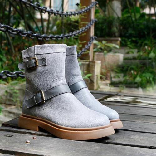 Warm Velvet Leather Boots