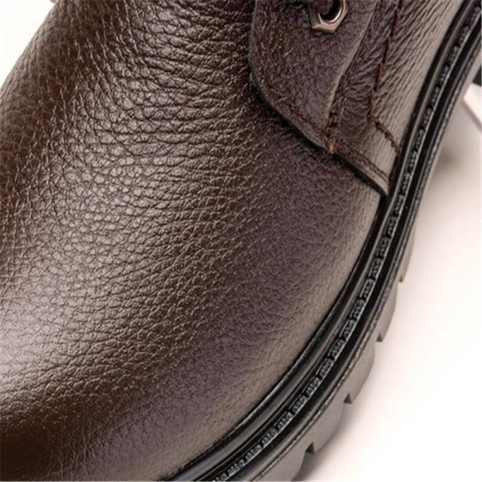 Men's High-Top Leather Martin Boots