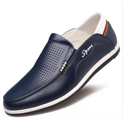 Man Breathable Mesh Leather shoes