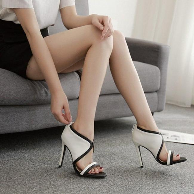 Temperament Fashion Fish Matching Stiletto Super High Heel Sexy Sandals