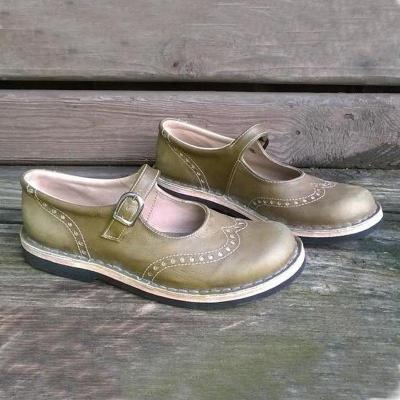 Vintage Cute School Girl Low Heels Shoes