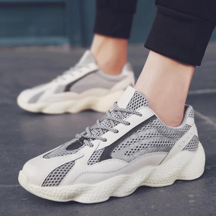 Fashion Individual Reflective Thick Bottom Sports Shoes
