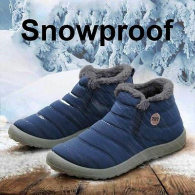 Women Unisex Waterproof Fur Lining Snow Boots