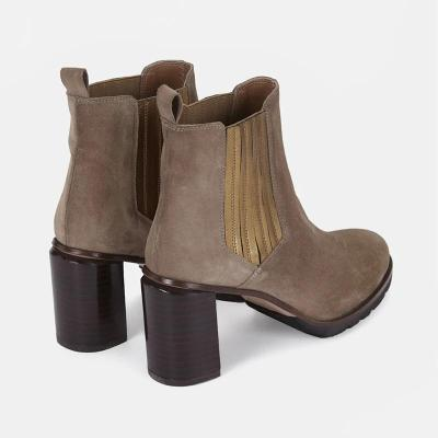 Women's fashion solid color high heel ankle boots