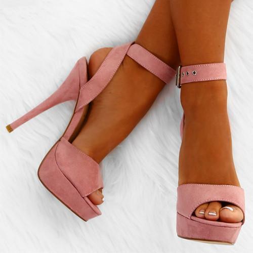 Women Summer PU Peep Toe Sandals