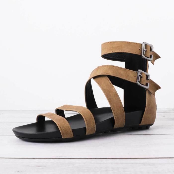 Pu Summer Zipper Sandals