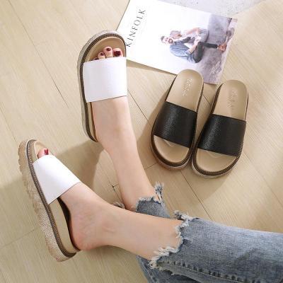 Summer Flat Slippers Colored Cross Belt Casual Home Slippers Flip Flops Female