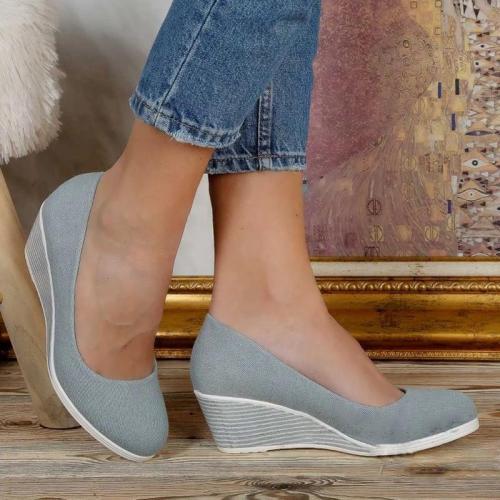 Womens Slip On Wedge Heel  Casual Shoes